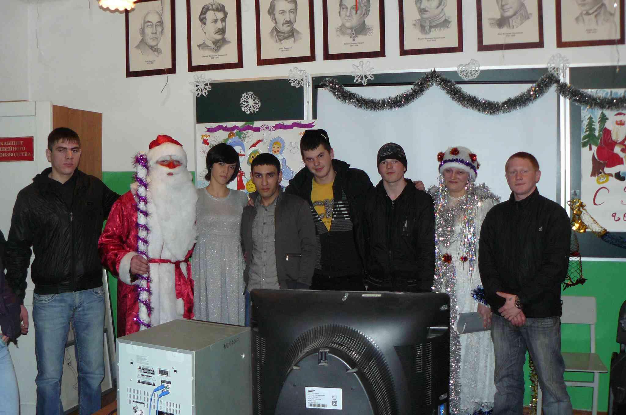 Фото на память с Дедом Морозом и Снегурочкой